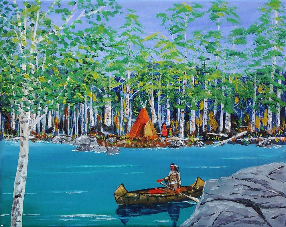 """Summer Camp"" original fine art by Mike Caitham"