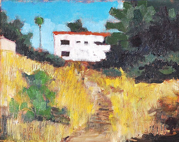 """""""Vacant Lot on Florida Avenue, San Diego"""" original fine art by Kevin Inman"""