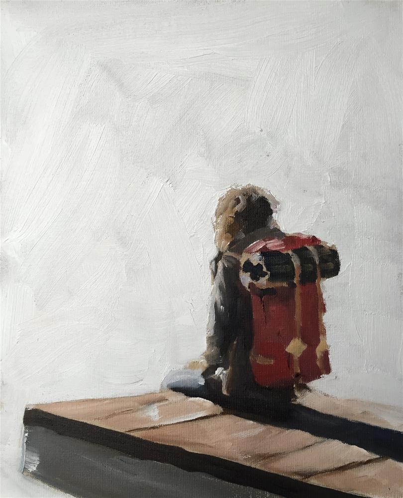 """The Traveller"" original fine art by James Coates"