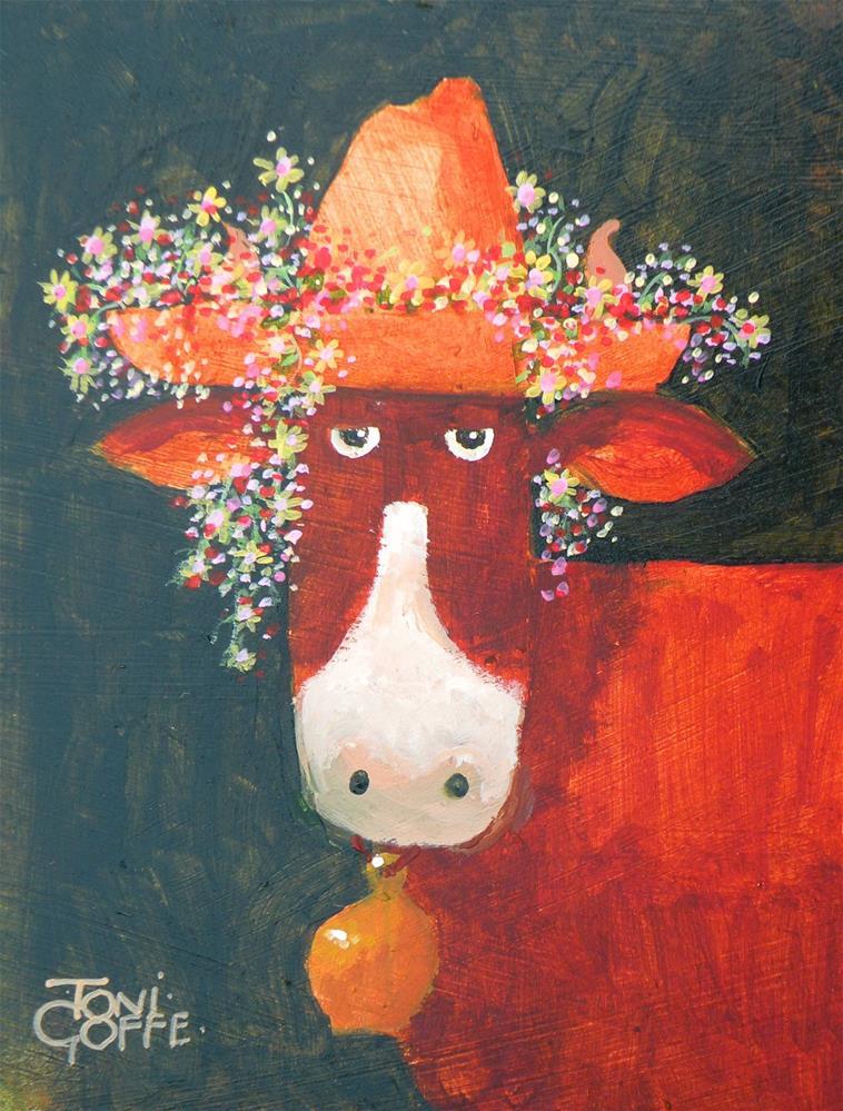 """Chapeau"" original fine art by Toni Goffe"