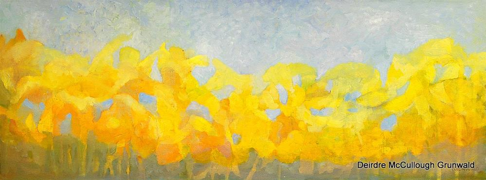 """Many Daffodils"" original fine art by Deirdre McCullough Grunwald"