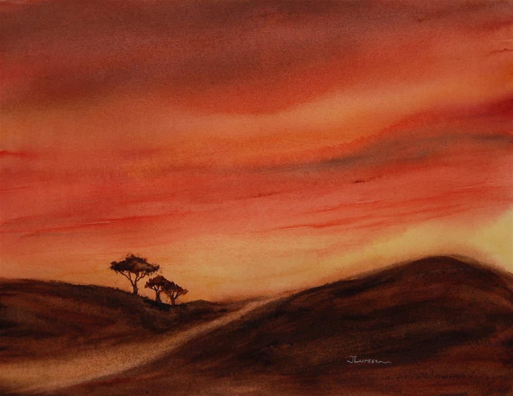 """Setting Sun"" original fine art by Jean Lurssen"