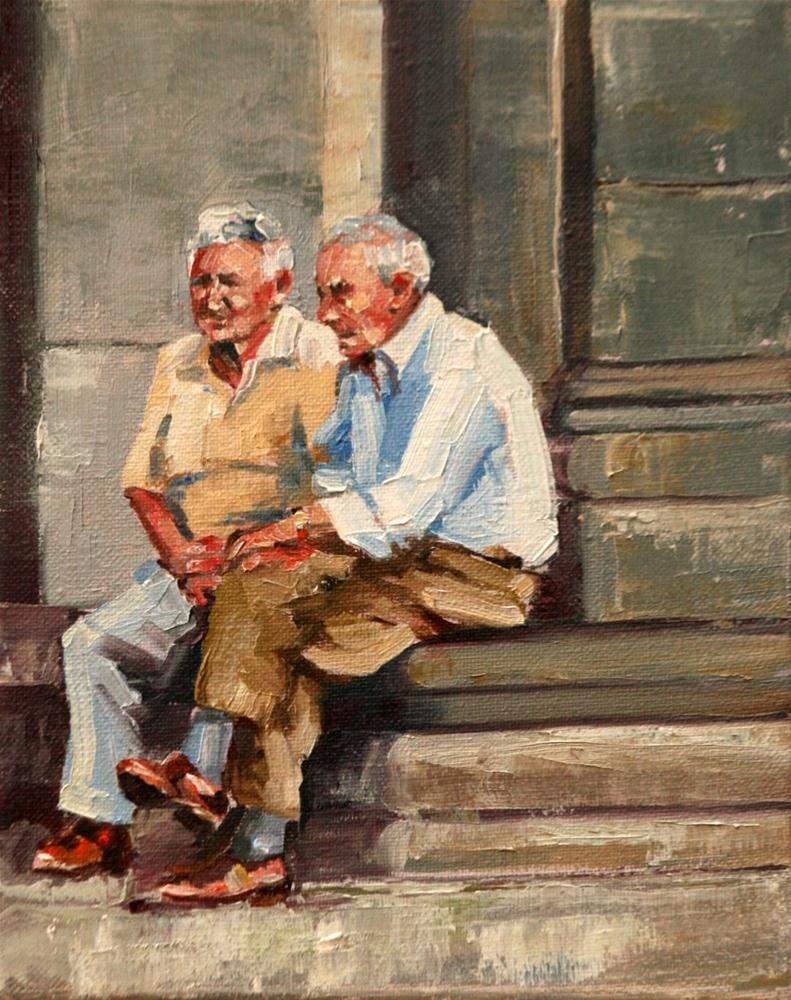 """old friends"" original fine art by Carol Carmichael"
