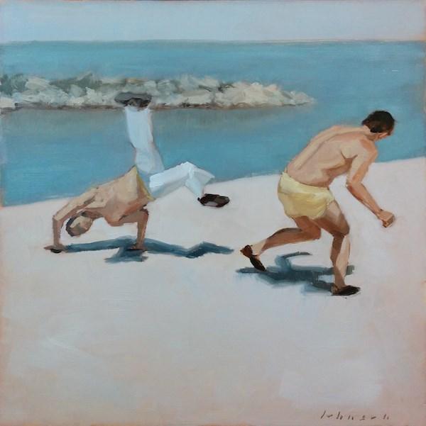 """Capoeiristas"" original fine art by Dan Johnson"