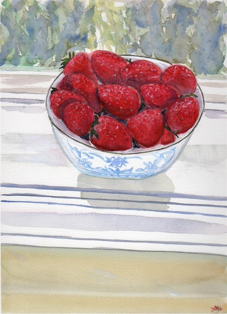 """Berry Bowl Redux"" original fine art by Laura Denning"