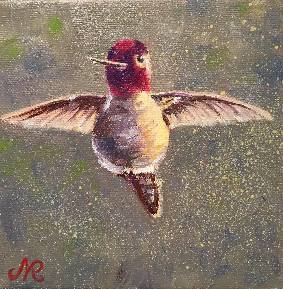 """Hummingbird"" original fine art by Natasha Ramras"