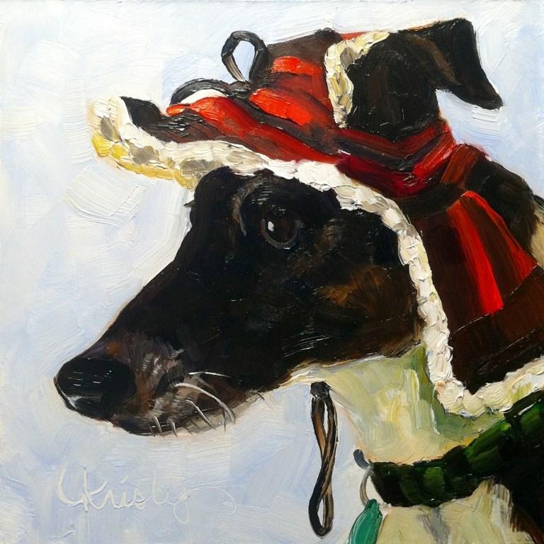 """DOG IS GOD SPELLED BACKWARDS"" original fine art by Kristy Tracy"