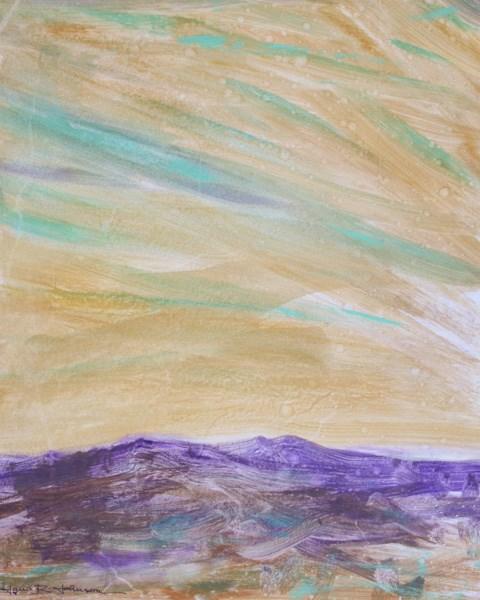 """Purple Mountains"" original fine art by Jana Johnson"