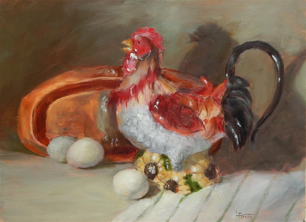 """""""Bird of A Different Feather"""" original fine art by Lina Ferrara"""
