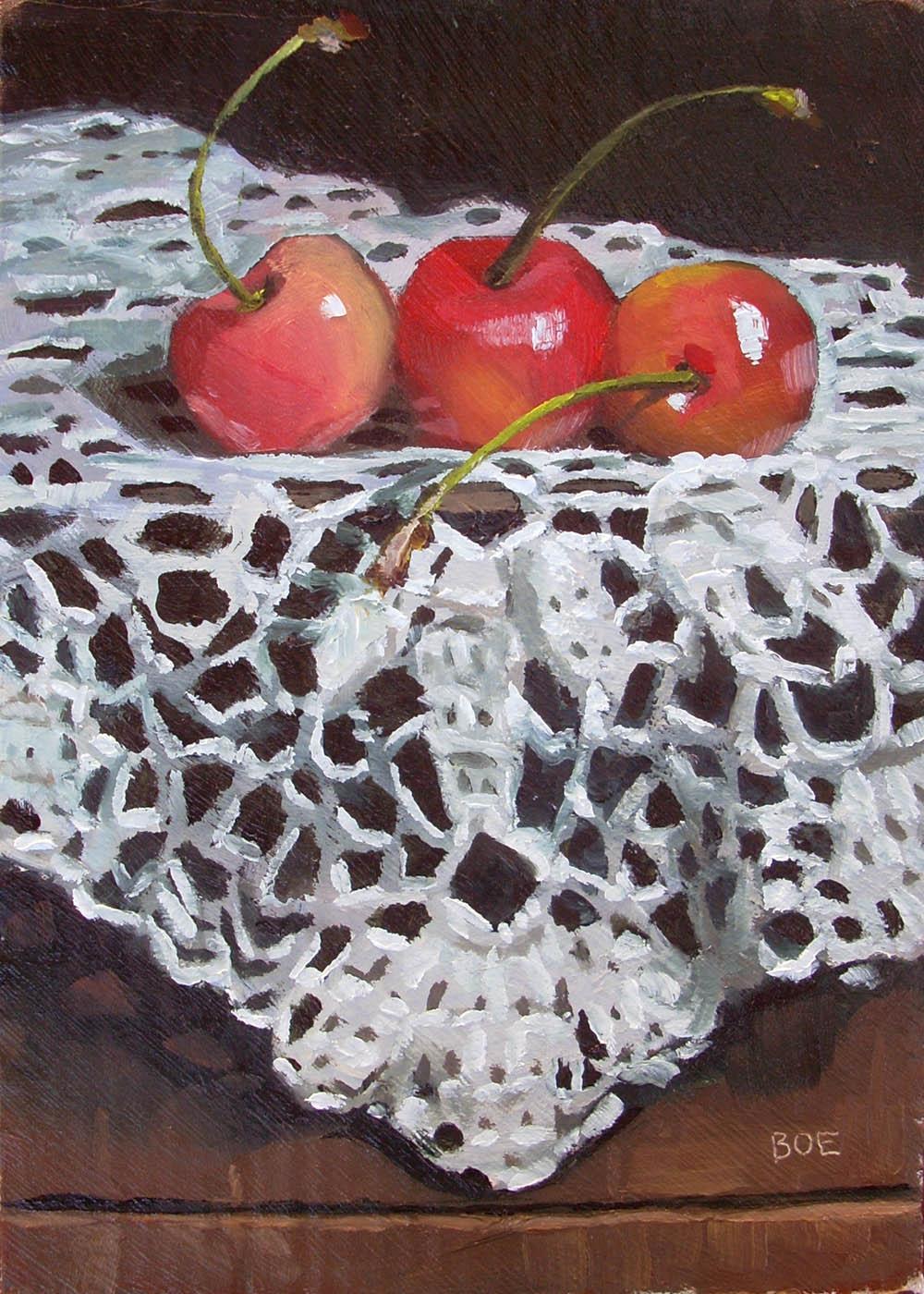 """""""Blushing Brides"""" original fine art by Karen Boe"""