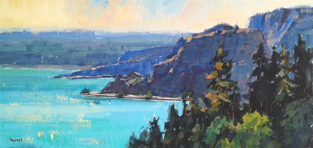 """Sunrise On The Columbia"" original fine art by Cathleen Rehfeld"