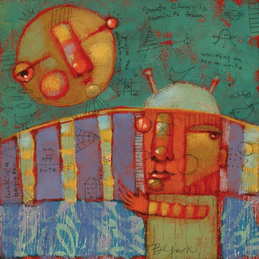 """Moon-Wish"" original fine art by Brenda York"