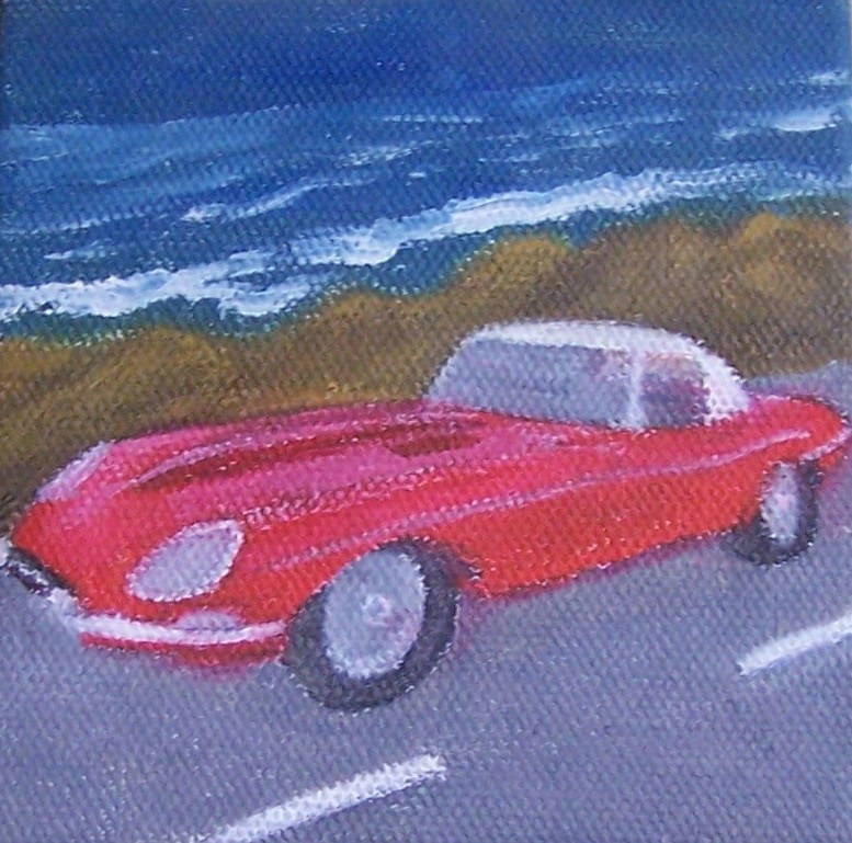 """""""63 jaguar"""" original fine art by John Marcum"""