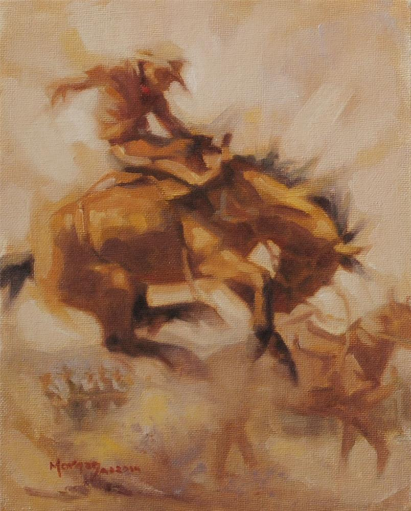 """Buckaroo Memories #2"" original fine art by Cecile W. Morgan"