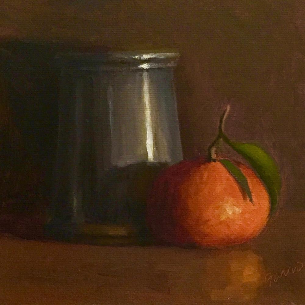 """""""Pewter Cup & Clementine"""" original fine art by Michelle Garro"""