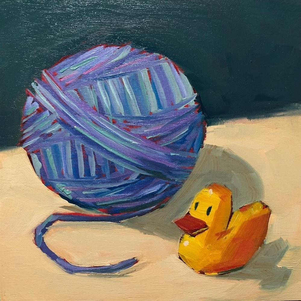 """""""1313: Will Someone Knit Me a Sweater?"""" original fine art by Brian Miller"""