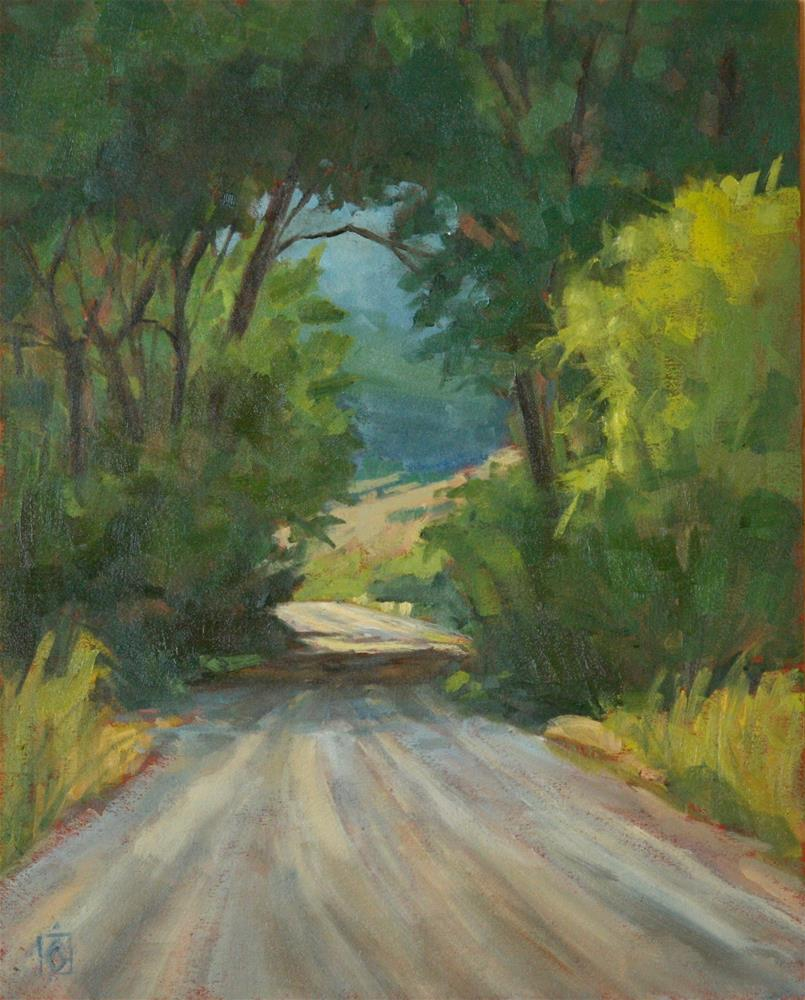 """Country Road"" original fine art by Carol Granger"