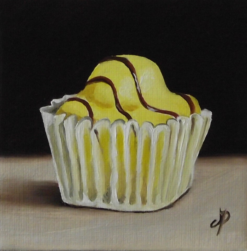 """yellow French Fancie cake"" original fine art by Jane Palmer"
