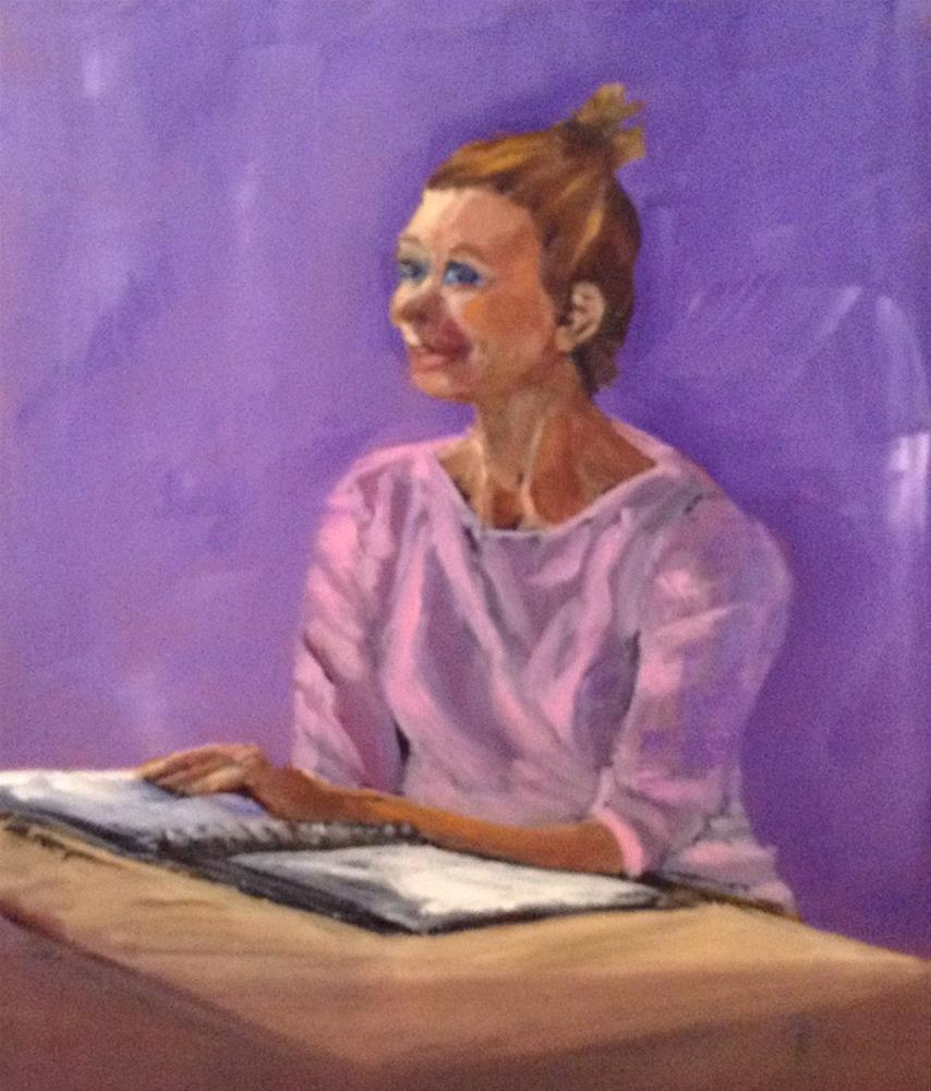 """Girl Studying"" original fine art by Shelley Koopmann"