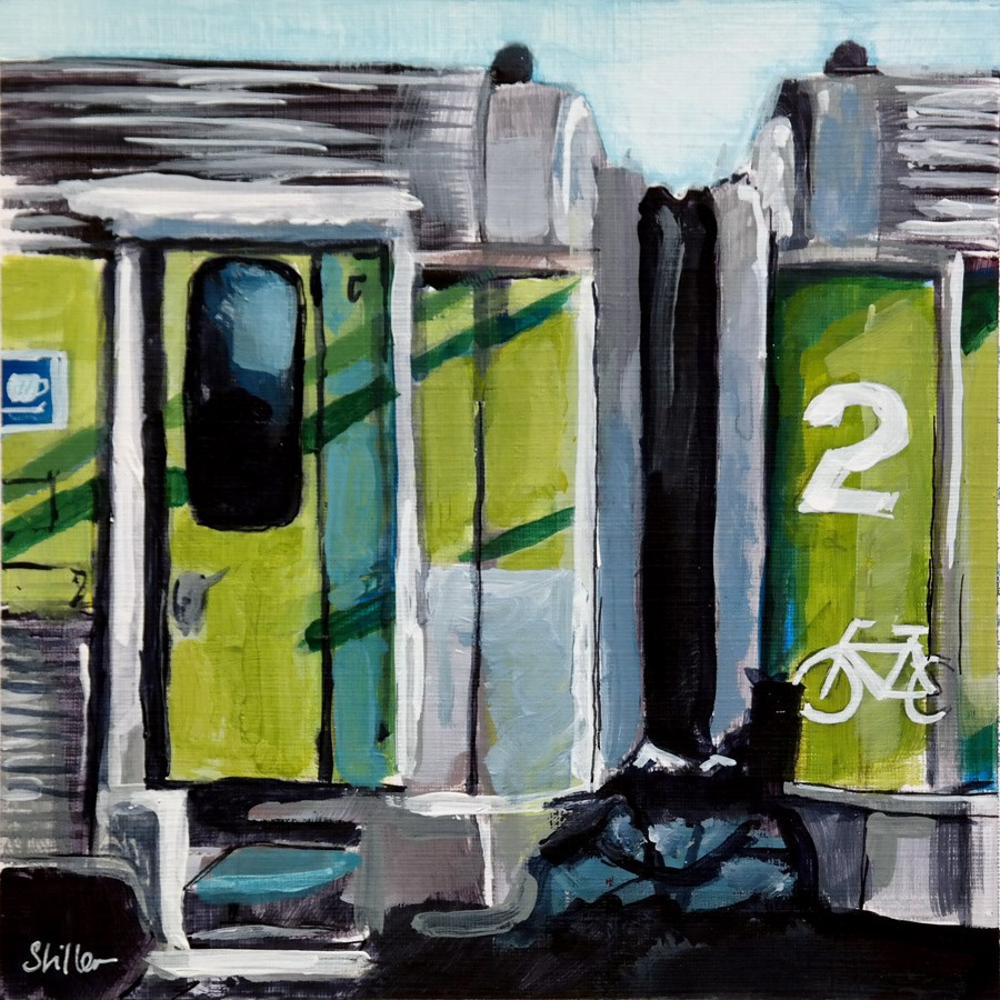 """2011 Green Sides"" original fine art by Dietmar Stiller"