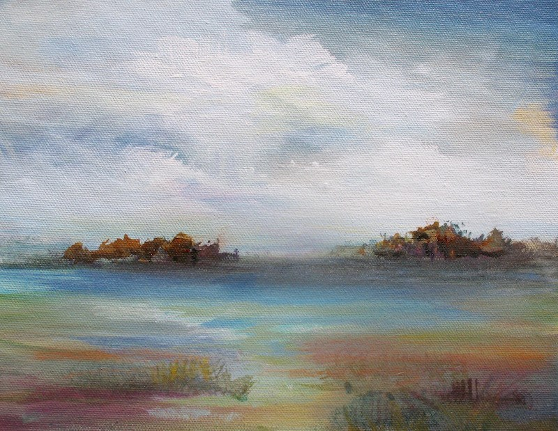 """Nature's Reverie"" original fine art by Karen Hale"