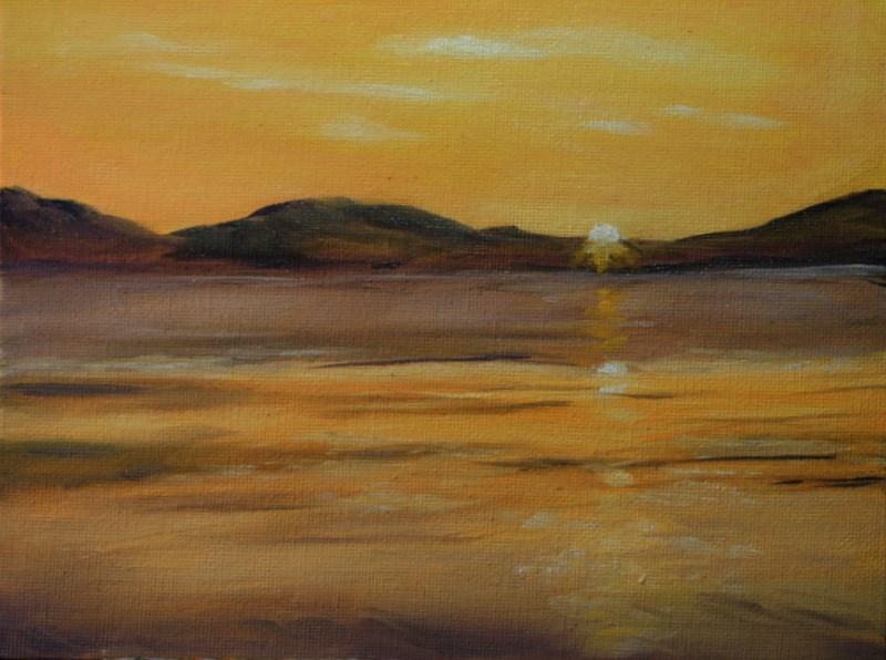 """Pure Gold"" original fine art by Jean Nelson"