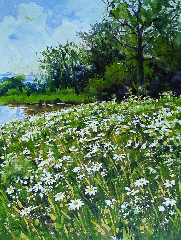 """""""Daisy"""" original fine art by Elena Senina"""