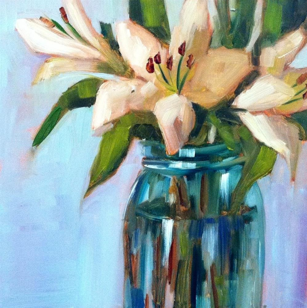 """""""Lily Number Three"""" original fine art by Libby Anderson"""