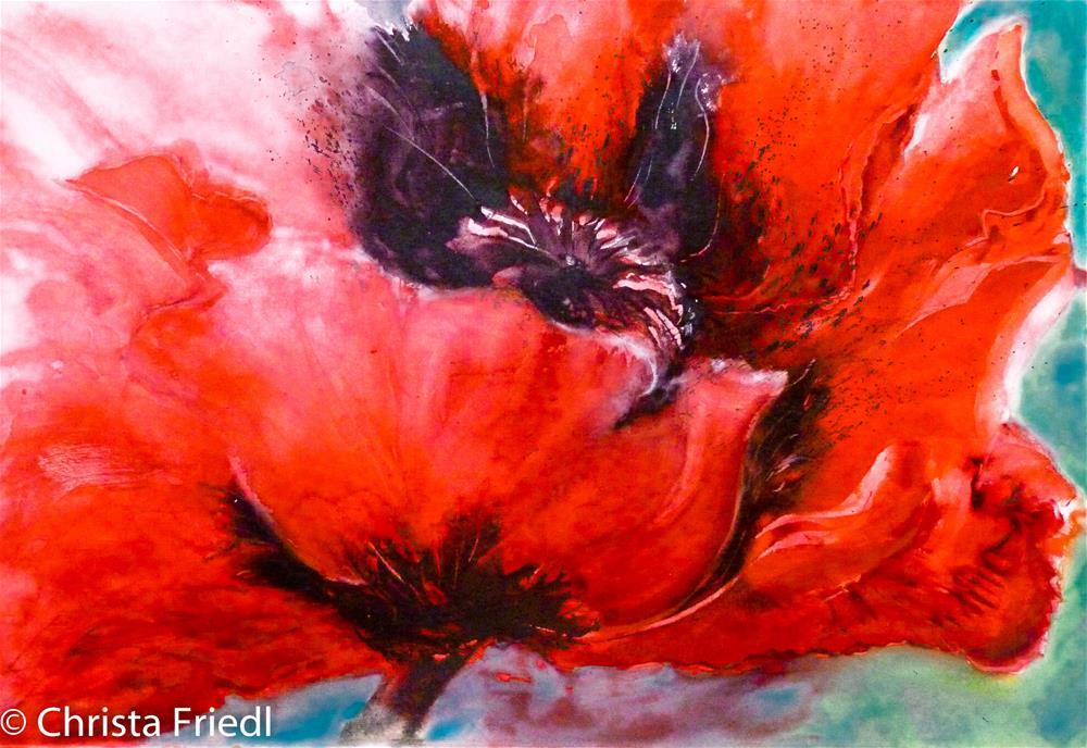 """Poppy"" original fine art by Christa Friedl"