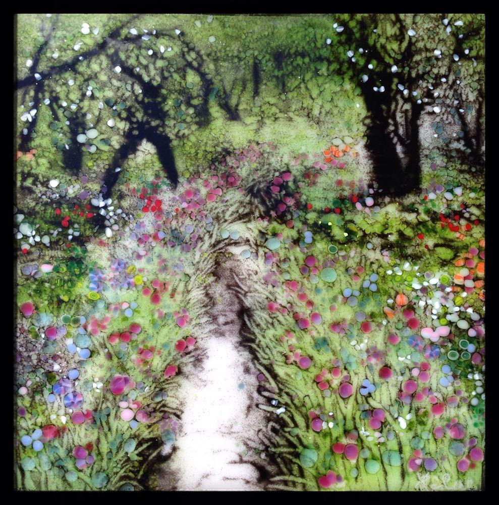 """Japanese Iris Garden"" original fine art by Kelly Alge"