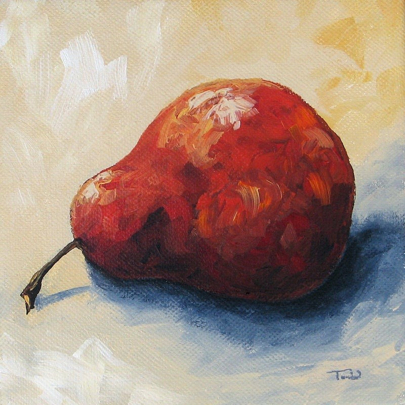 """The Lazy Red Pear IV"" original fine art by Torrie Smiley"