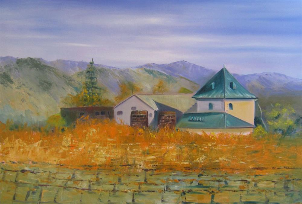 """Sonoma Vineyard ll"" original fine art by Linda McCoy"