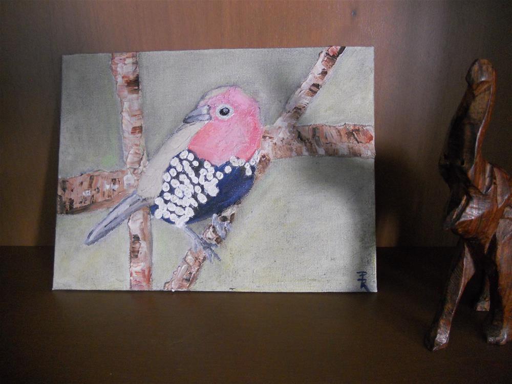 """""""Pink Throated Twinspot No.1"""" original fine art by Pamela Ross"""