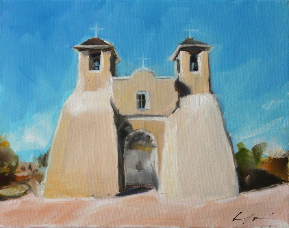 """Ranchos de Taos"" original fine art by Clair Hartmann"