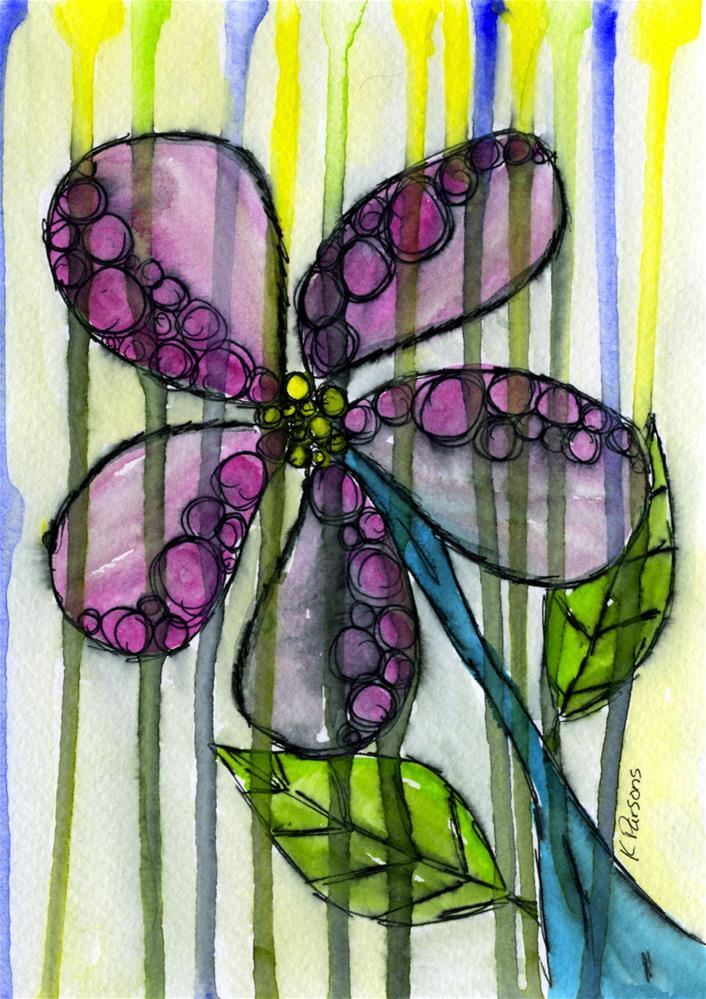 """In the Rain"" original fine art by Kali Parsons"
