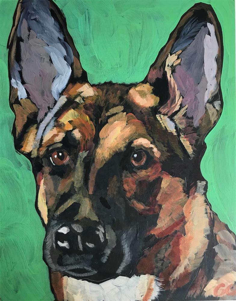 """German Shepherd "" original fine art by Gina Garding"