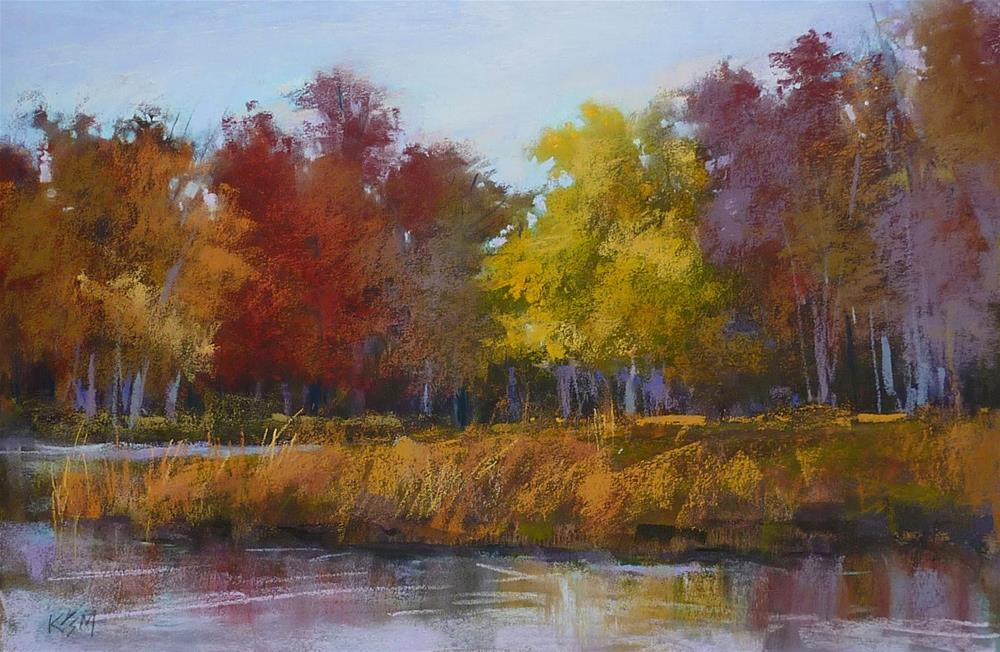 """""""Changing the Mood of a Landscape Painting"""" original fine art by Karen Margulis"""