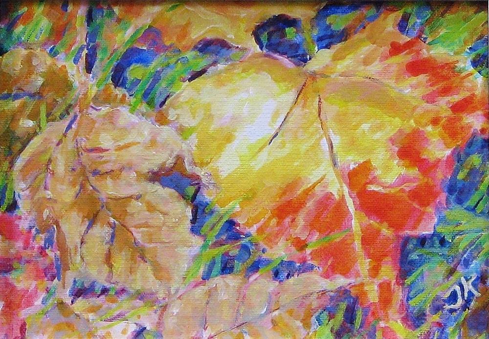 """""""Leaf Pattern"""" original fine art by J Kelsey"""