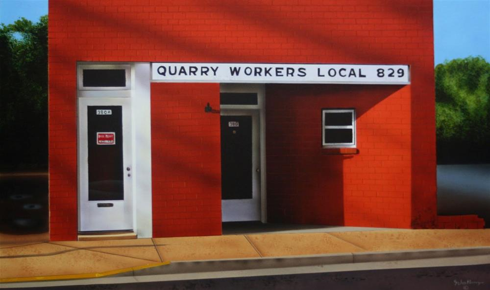 """""""Quarry Workers Local"""" original fine art by Fred Schollmeyer"""