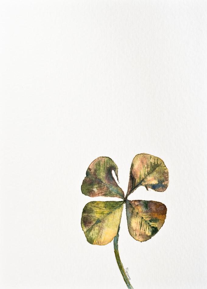 """""""117 - Still Lucky"""" original fine art by A.E.E. Miller"""