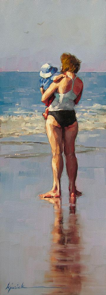 """Young Looking"" original fine art by Karin Jurick"