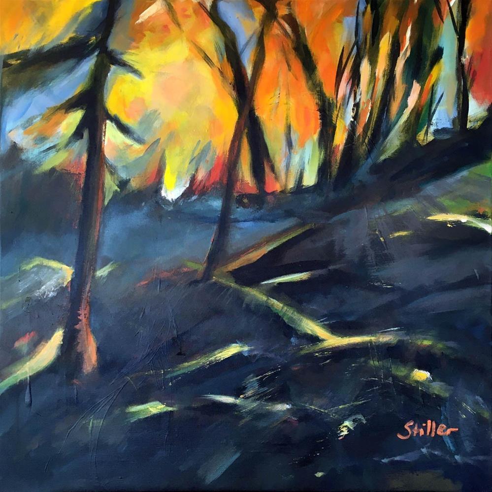 """3380 Dark November 20 - World on fire"" original fine art by Dietmar Stiller"