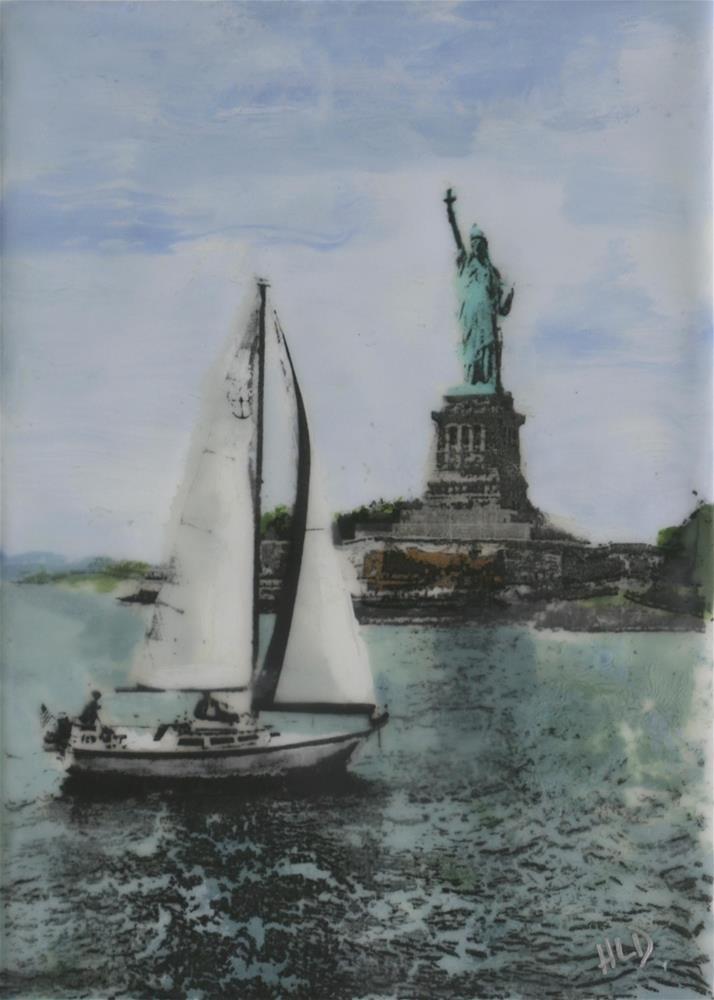 """Sailing In The Hudson"" original fine art by Heather Douglas"