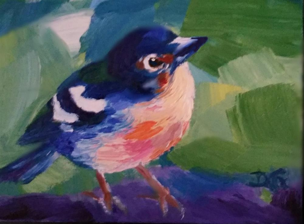 """Red Robin-Red Robin"" original fine art by Dana C"
