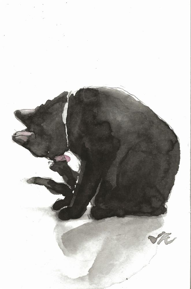 """Daily Cat 100"" original fine art by Jean Krueger"