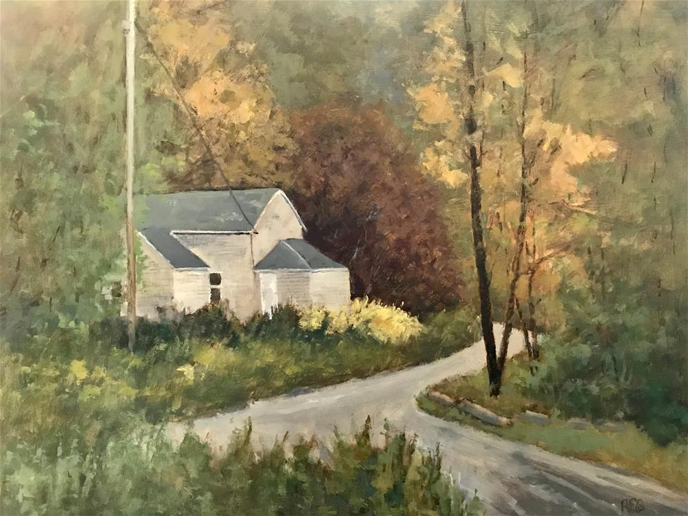 """The abandon house down the road"" original fine art by Betty Argiros"