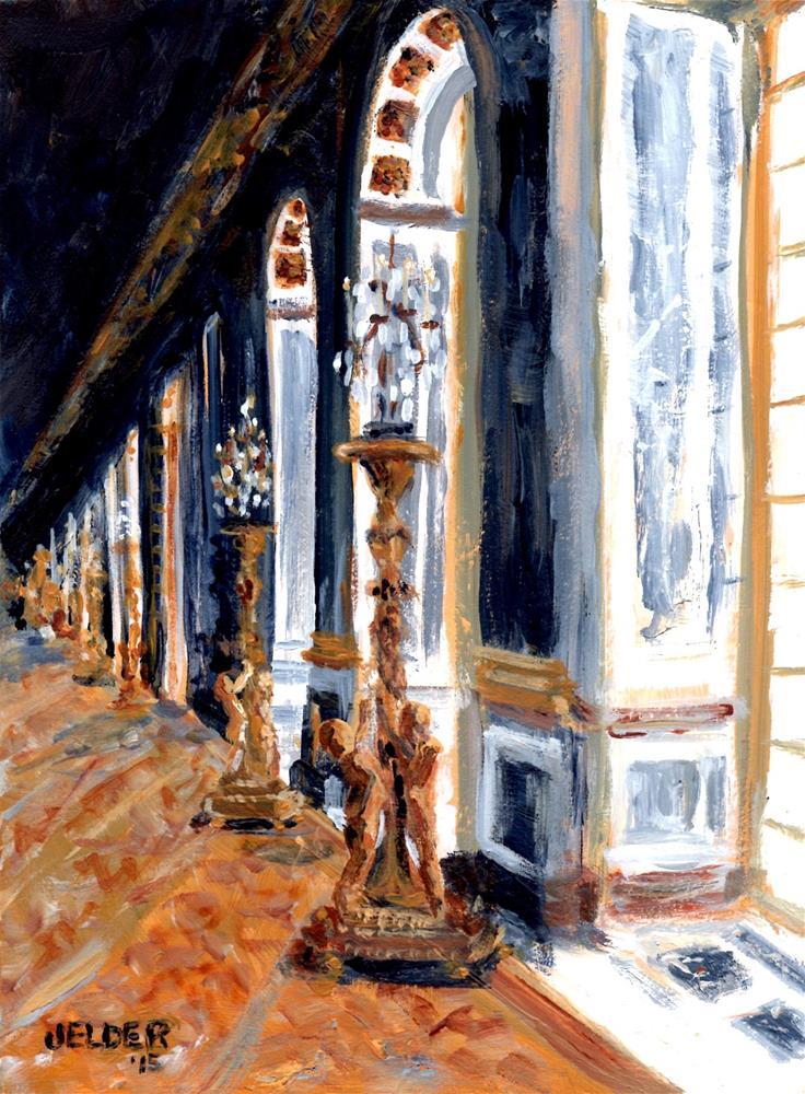 """""""Hall of Mirrors, Versailles"""" original fine art by Judith Elder"""