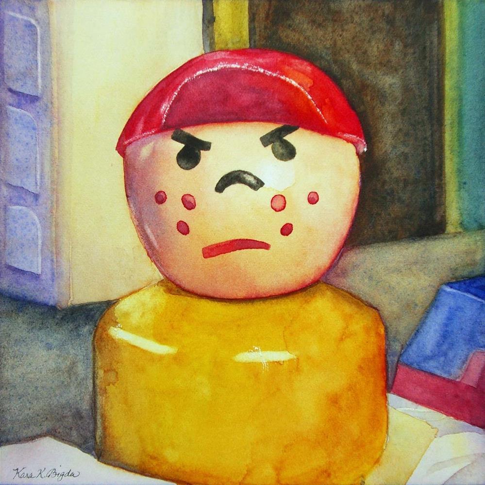 """The Grump"" original fine art by Kara K. Bigda"