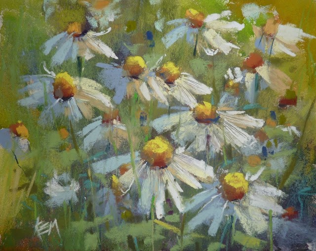 """New Video Released! Paint a Daisy Demo"" original fine art by Karen Margulis"
