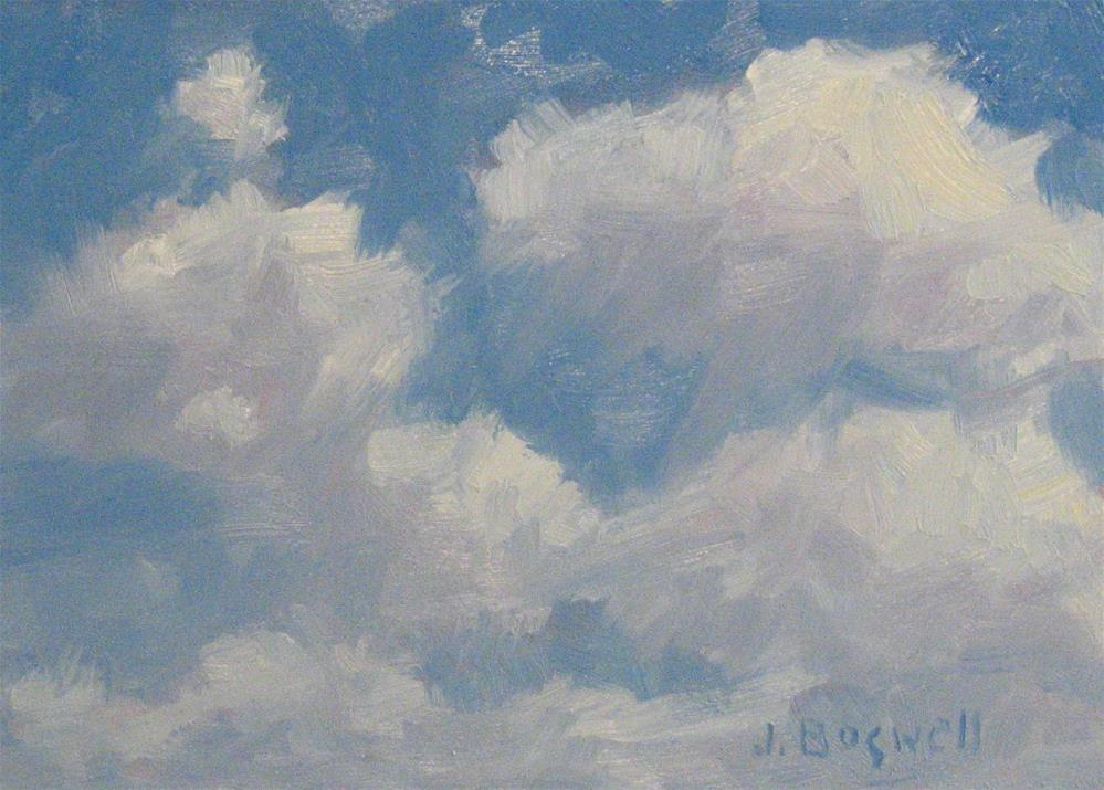 """Clouds in Blue Sky"" original fine art by Jennifer Boswell"